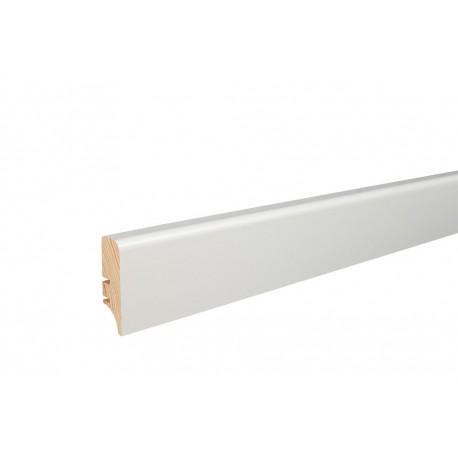 Плінтус напольний білий фарбований, 46х16х2200 мм