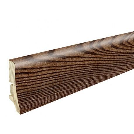 Плінтус напольний Ясен кава,лак, 58х20х2200 мм