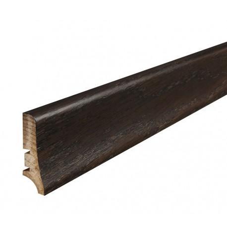 Плінтус напольний Венге,лак, 58х20х2200 мм