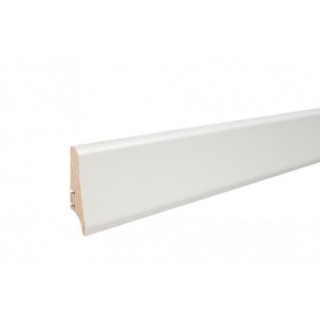 Плінтус напольний білий фарбований, 58х20х2200 мм