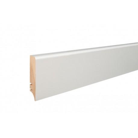 Плинтус напольный белый крашенный, 70х16х2200 мм