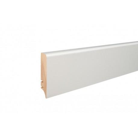 Плінтус напольний  вкритий білою плівкою,  60х16х2200 мм