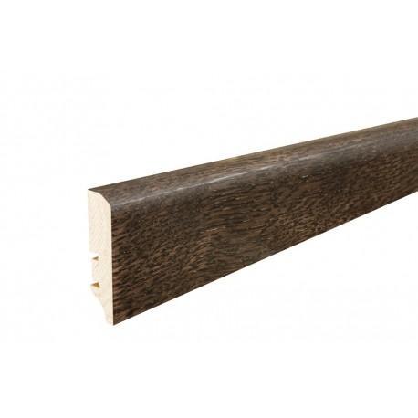 Плинтус напольный Дуб еспреcсо, лак, 60х16х2200 мм