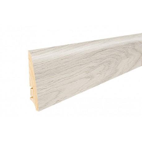 Плінтус підлоговий  Дуб Tender, лак,  78х18х2200 мм