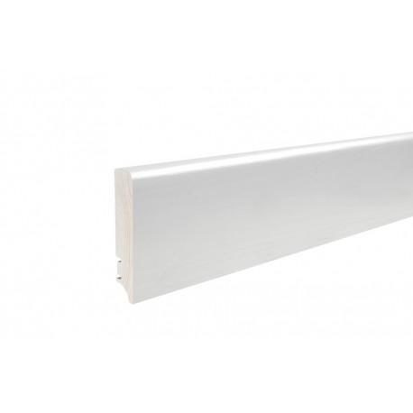 Плинтус напольный белый, лак 95х16х2200 мм