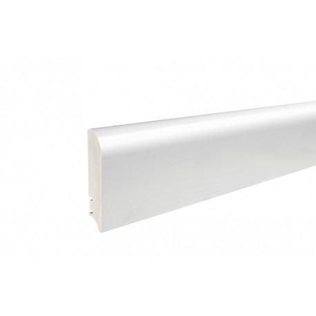 Плінтус напольний білий лак, 95х19х2200 мм